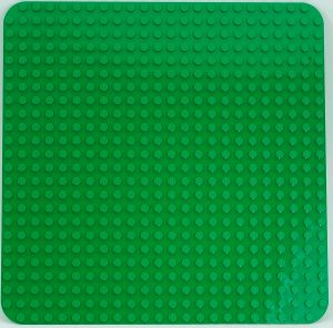 duplo 2304 large green building plate