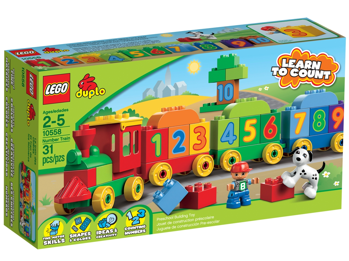 lego 10558 number train