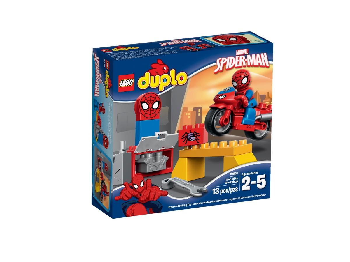 lego 10607 spider man web bike workshop