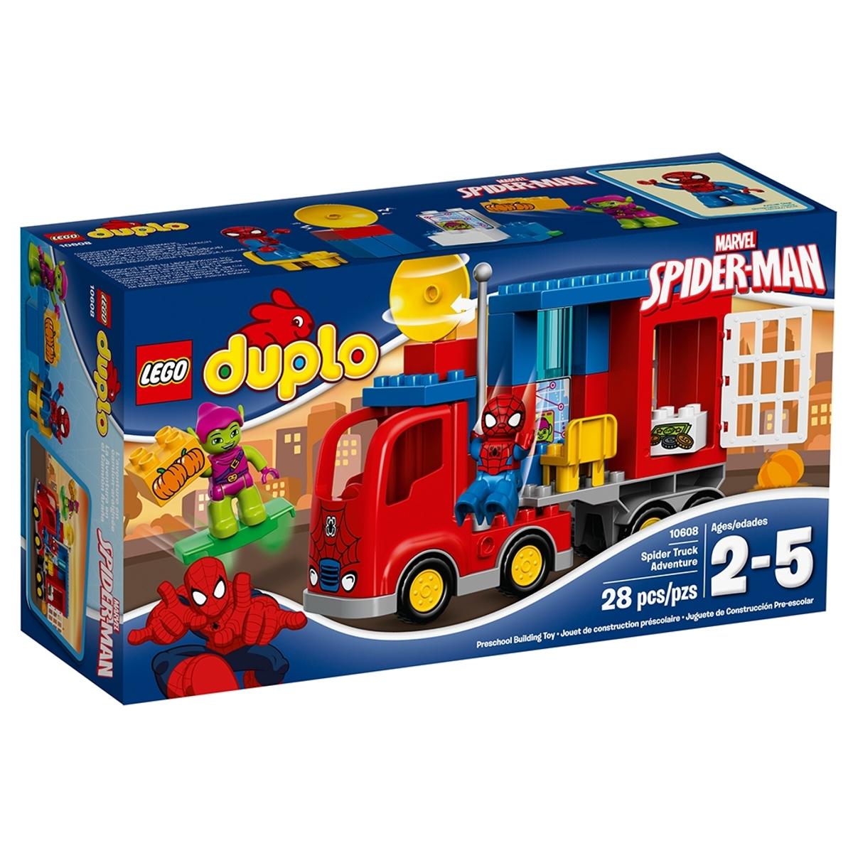 lego 10608 spider man spider truck adventure