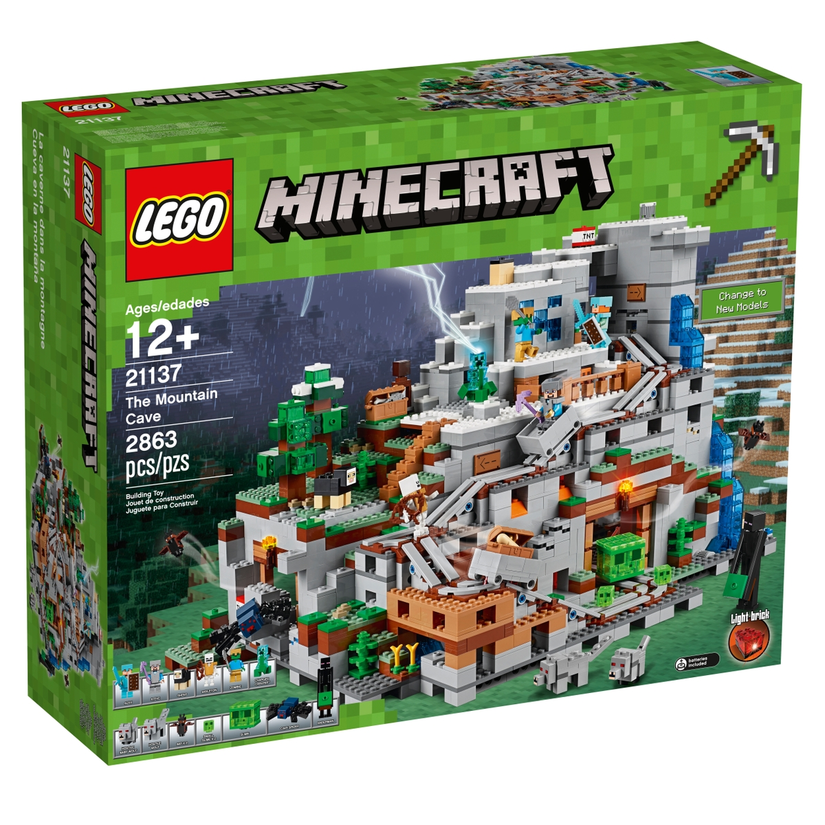 lego 21137 the mountain cave