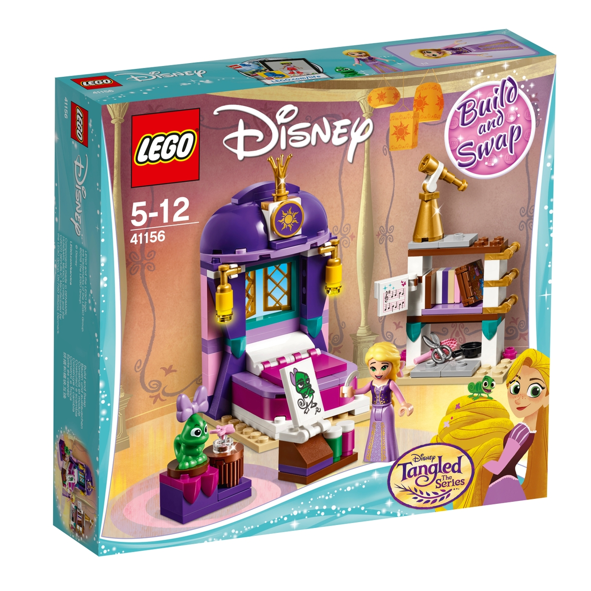 lego 41156 rapunzels castle bedroom