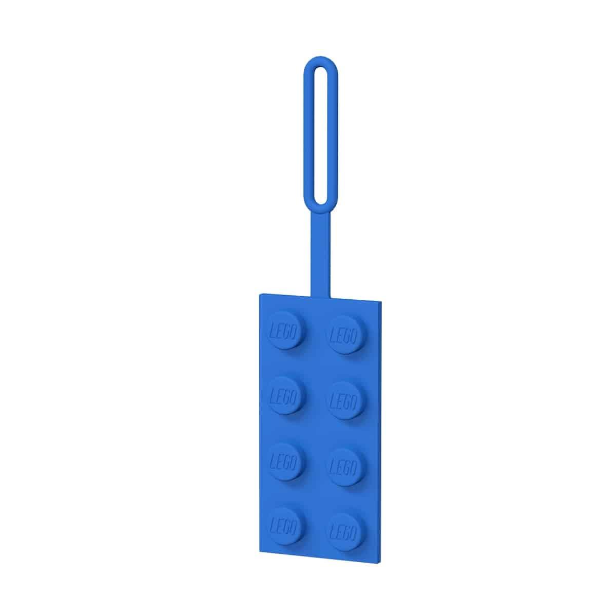 lego 5005543 2x4 blue luggage tag