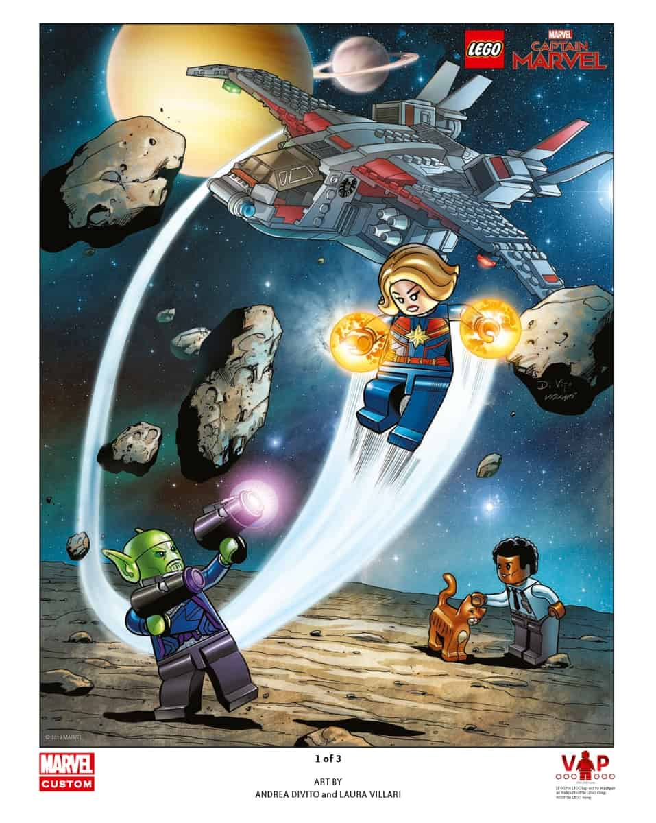 lego 5005877 captain marvel art print 1 of 3