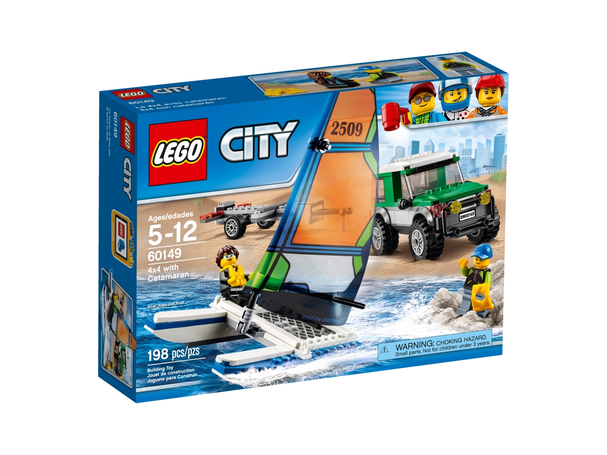 lego 60149 4x4 with catamaran