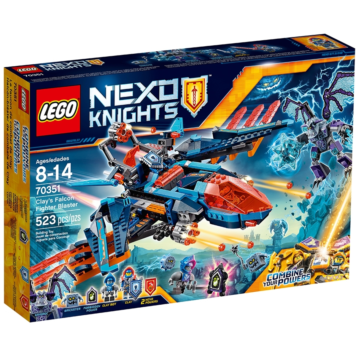 lego 70351 clays falcon fighter blaster
