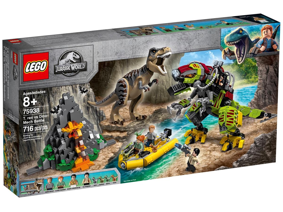 lego 75938 t rex vs dino mech battle