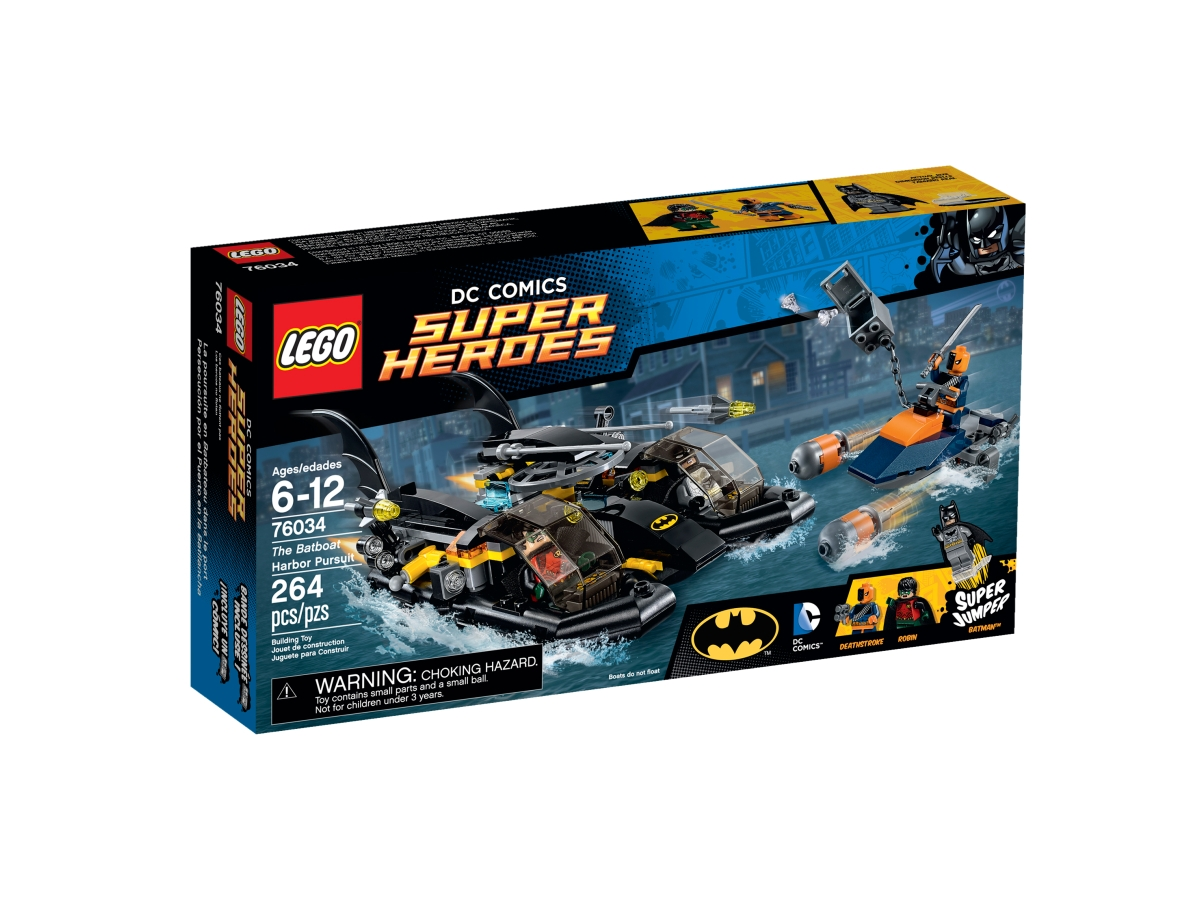 lego 76034 the batboat harbor pursuit