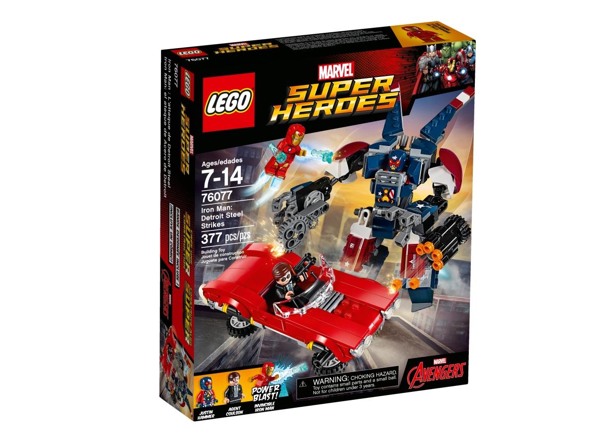 lego 76077 iron man detroit steel strikes
