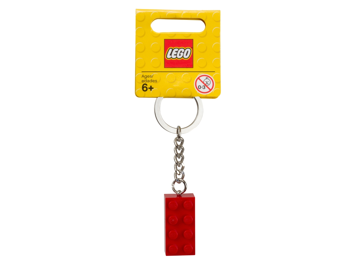 lego 850154 red brick keyring