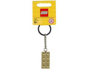 lego 850808 gold brick keyring