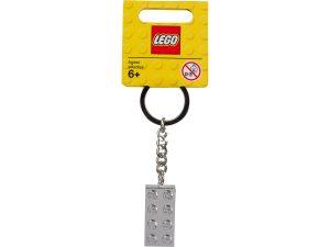 lego 851406 iconic metalised 2x4 keyring