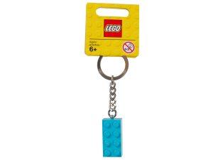 lego 853380 turquoise brick key ring
