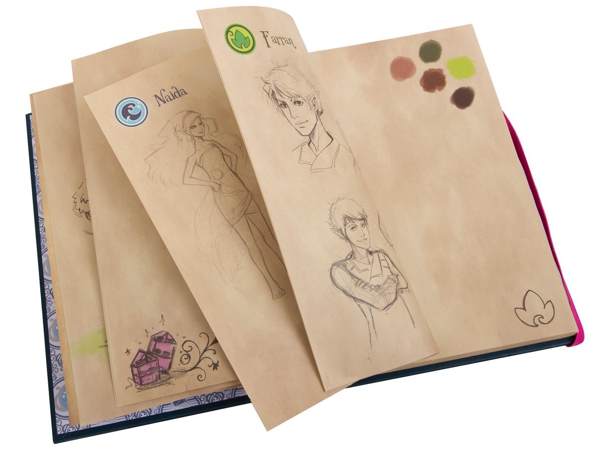 lego 853565 elves emily jones diary sketch book