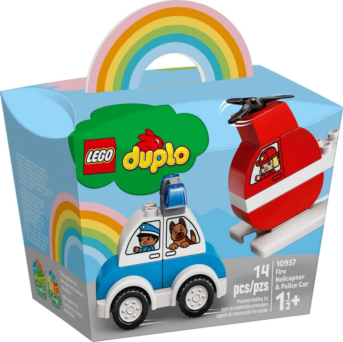 lego 10957 helicoptero dos bombeiros e carro da policia