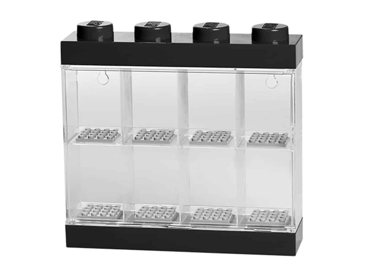 lego 5006152 caixa de exposicao para 8 minifiguras preta