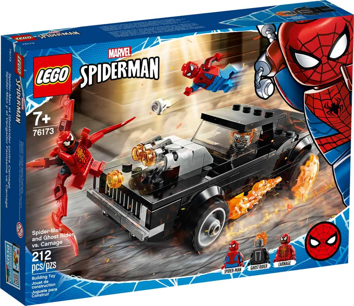 lego 76173 spider man e ghost rider vs carnage