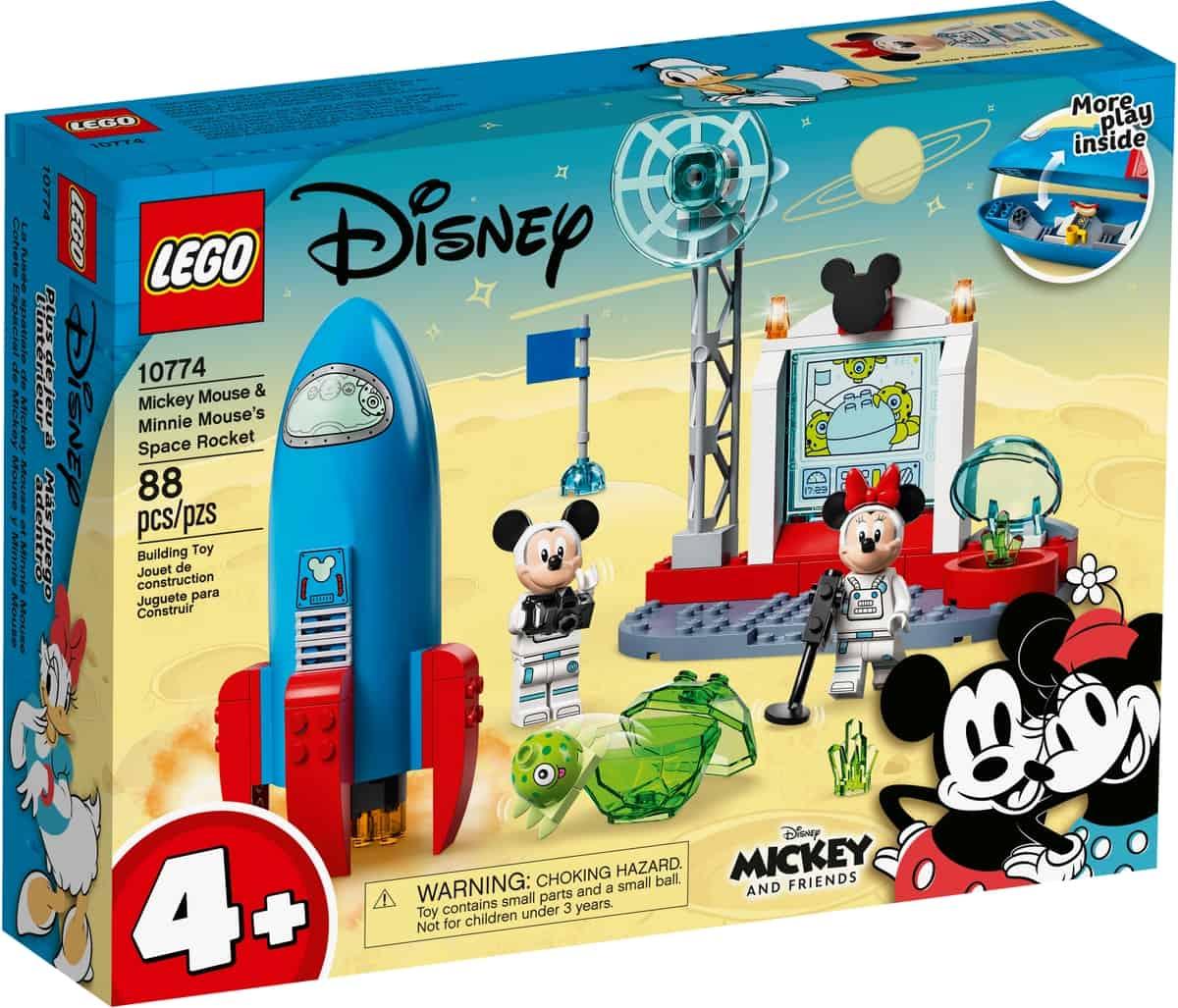 lego 10774 foguetao espacial do mickey mouse e da minnie mouse