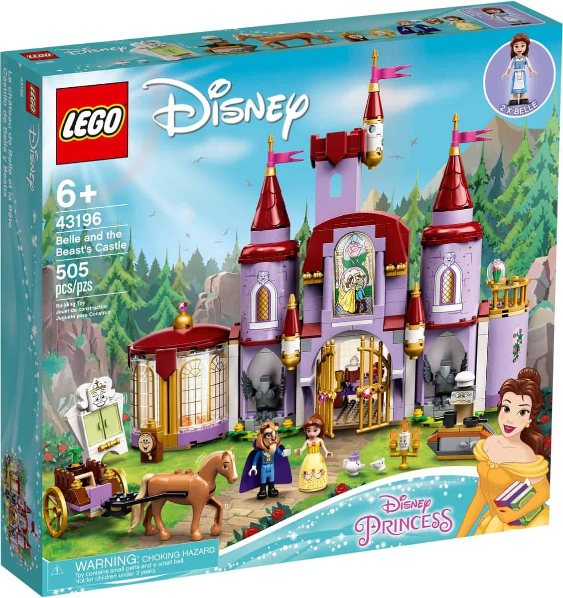 lego 43196 a bela e o castelo do monstro
