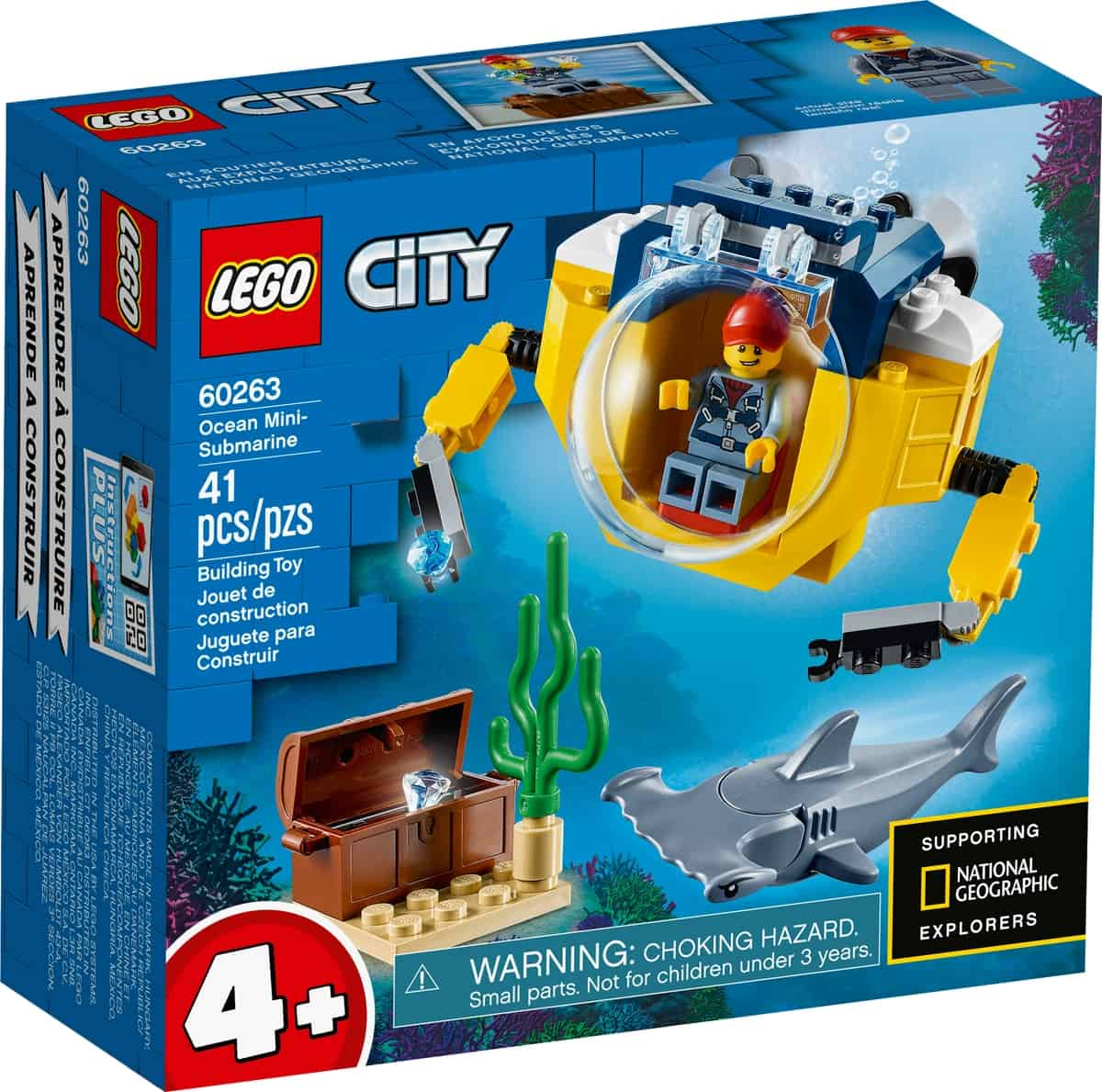 lego 60263 minissubmarino oceanico