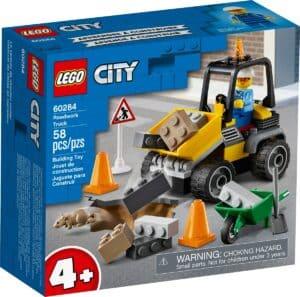 lego 60284 camiao de obras na estrada