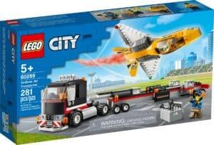 lego 60289 transportador de aviao de acrobacias aereas