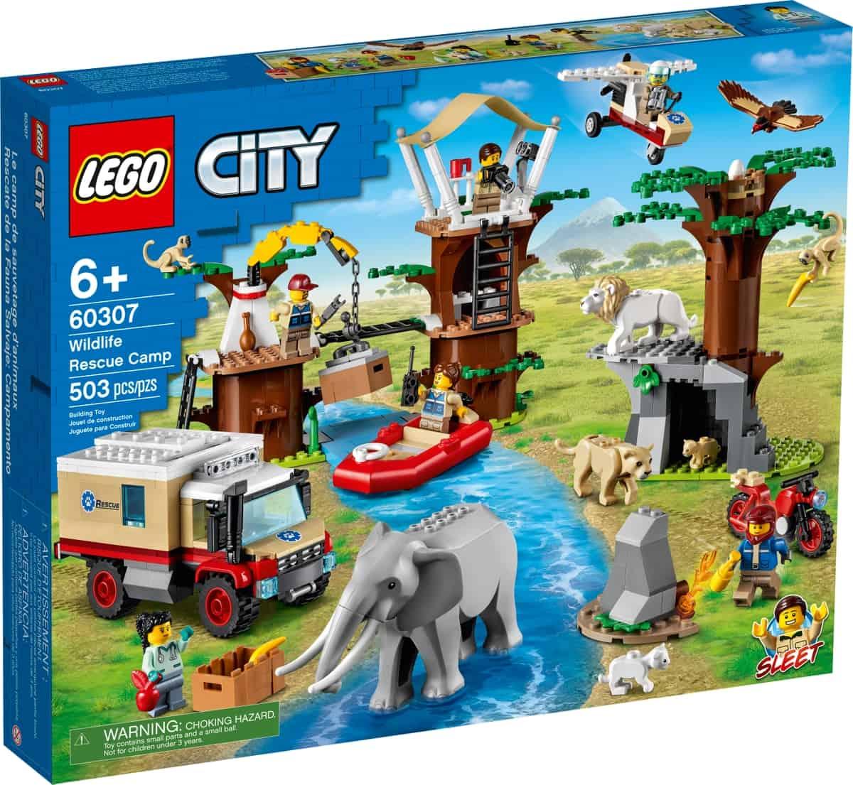 lego 60307 campo de acolhimento de animais selvagens