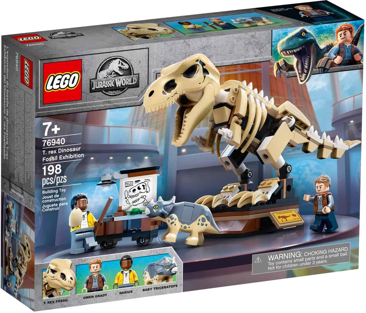 lego 76940 exposicao de fossil do dinossauro t
