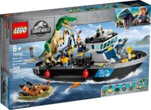 lego 76942 fuga de barco do dinossauro baryonyx
