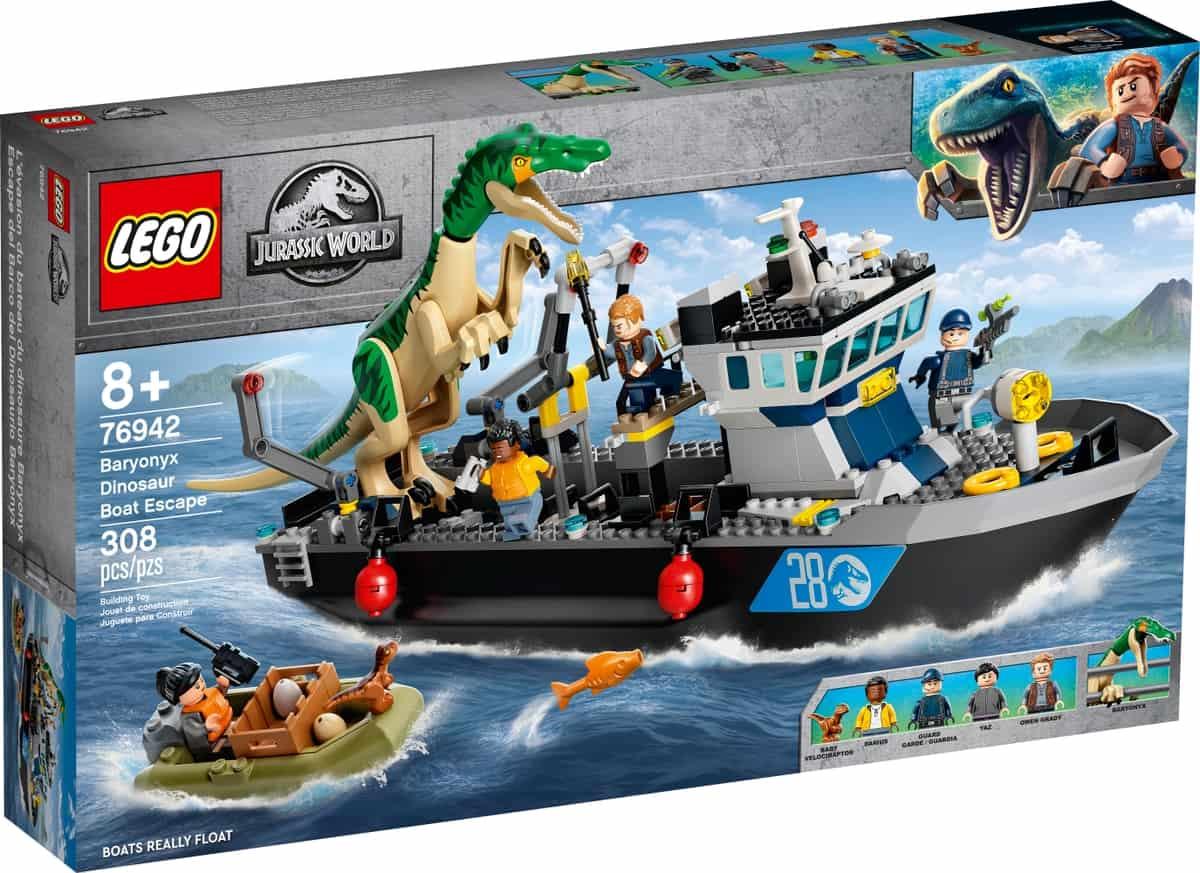 lego 76942 fuga de barco do dinossauro