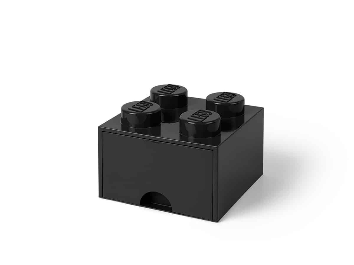 gaveta de tijolo negra para arrumacao com 4 espigas lego 5005711