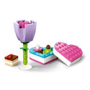 lego 30411 caixa de chocolates e flor
