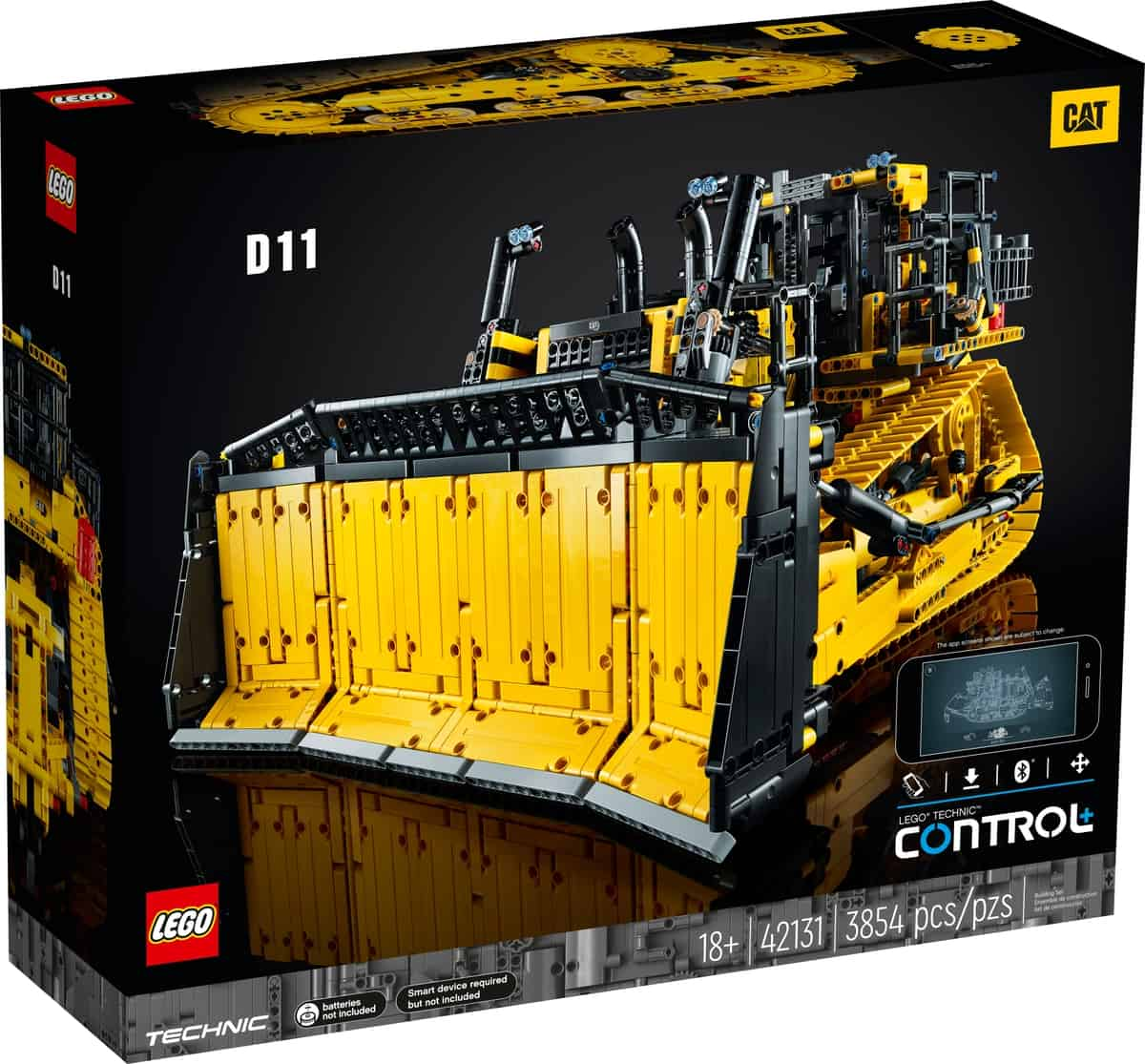 lego 42131 buldozer cat d11 comandado por app