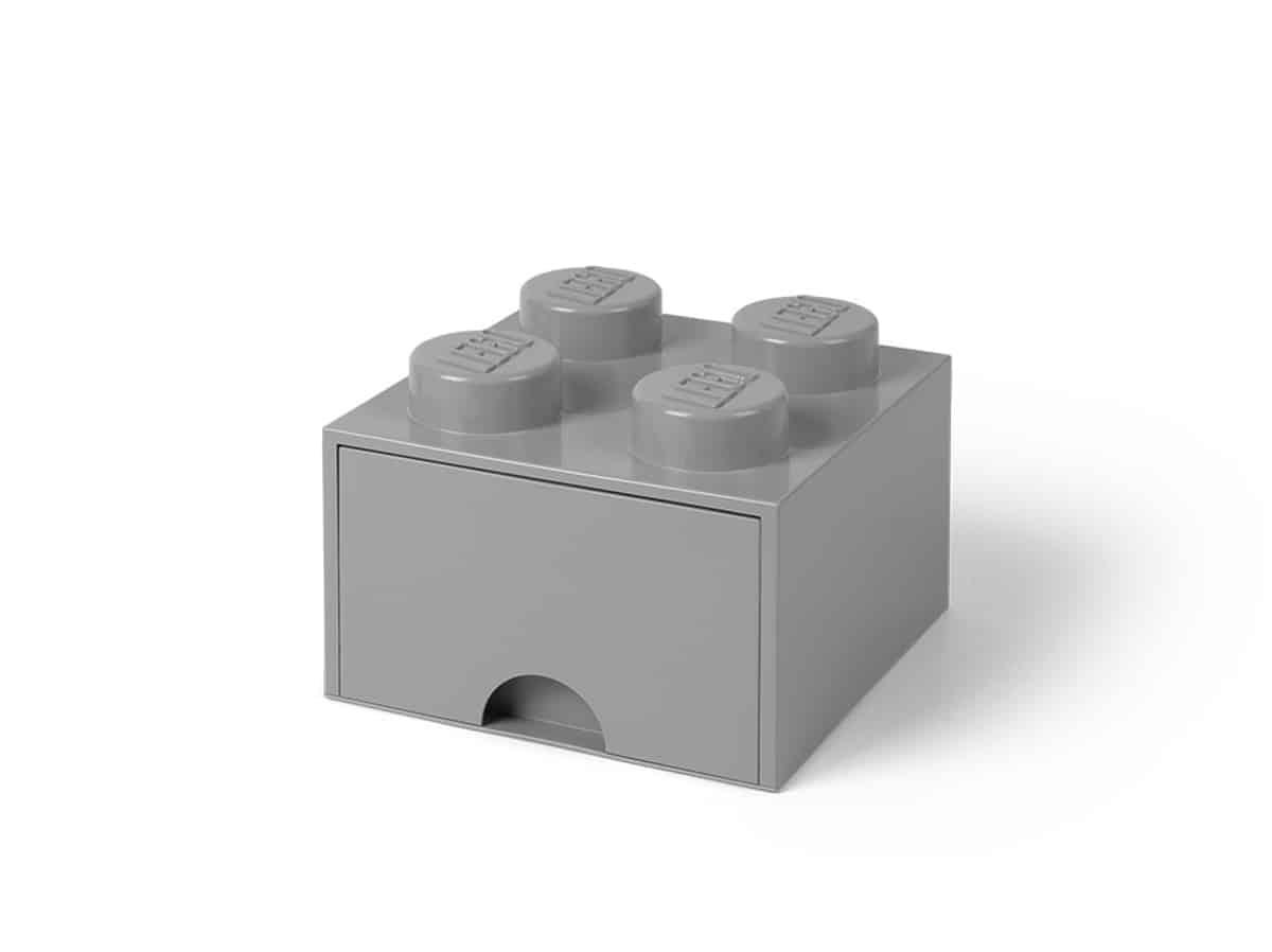 lego 5005713 peca gaveta 4 espigas cinzento