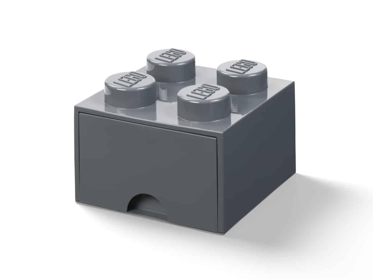 lego 5006328 peca gaveta 4 espigas cinzento escuro
