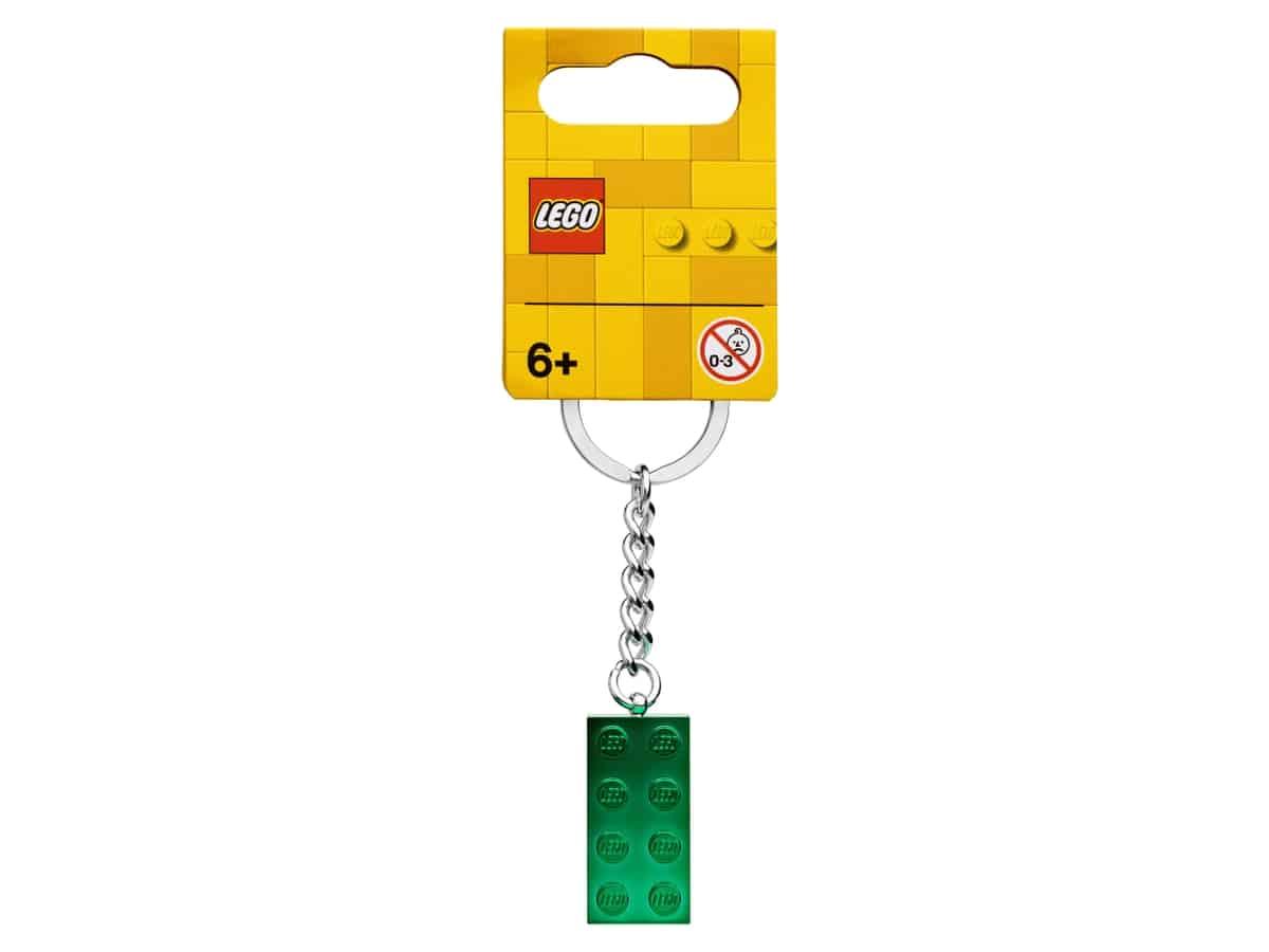 lego 854083 porta chaves verde metalizado