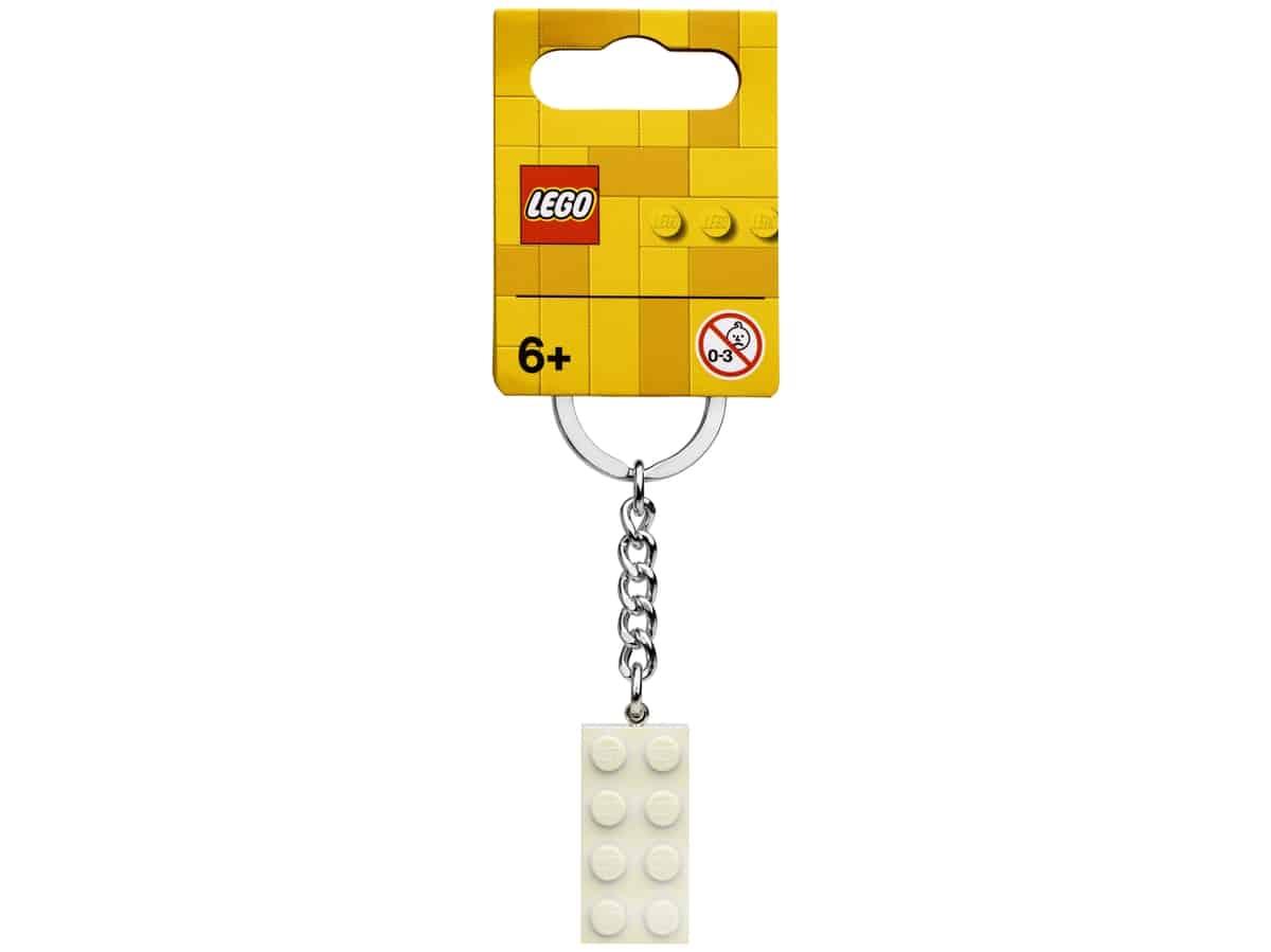 lego 854084 porta chaves branco metalizado
