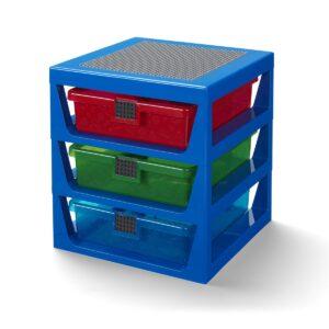 sistema de empilhamento azul transparente lego 5006179